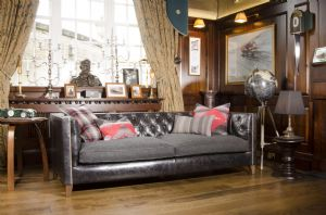 Tetrad Empire Midi Sofa in Ralph Lauren Signature Fabric